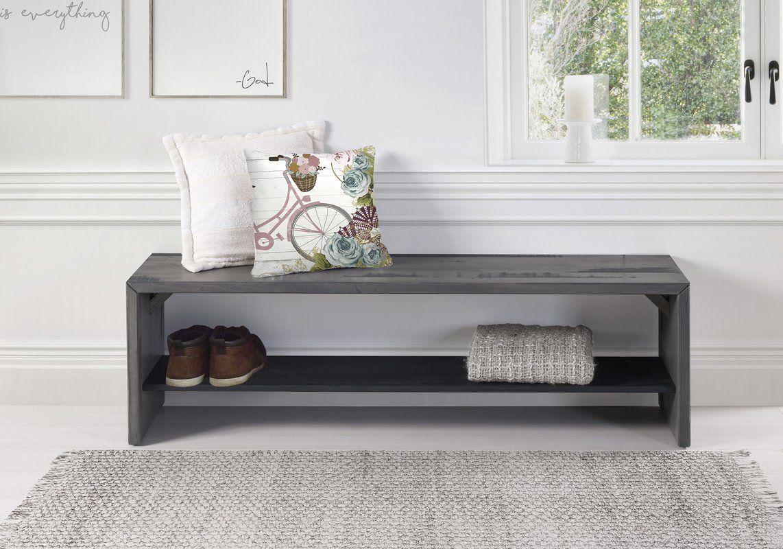 "Arocho 58"" Wood Storage Bench (With images) Wood storage"