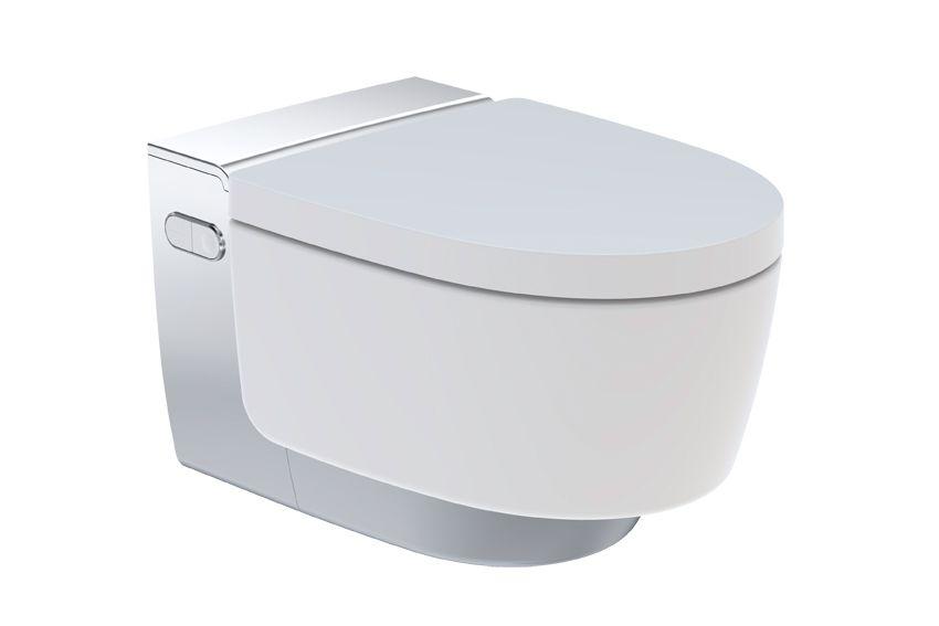 The New Geberit Aquaclean Mera With Chrome Showertoilet