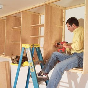11 easy garage space saving ideas cabinets how to build for Material cost to build a garage