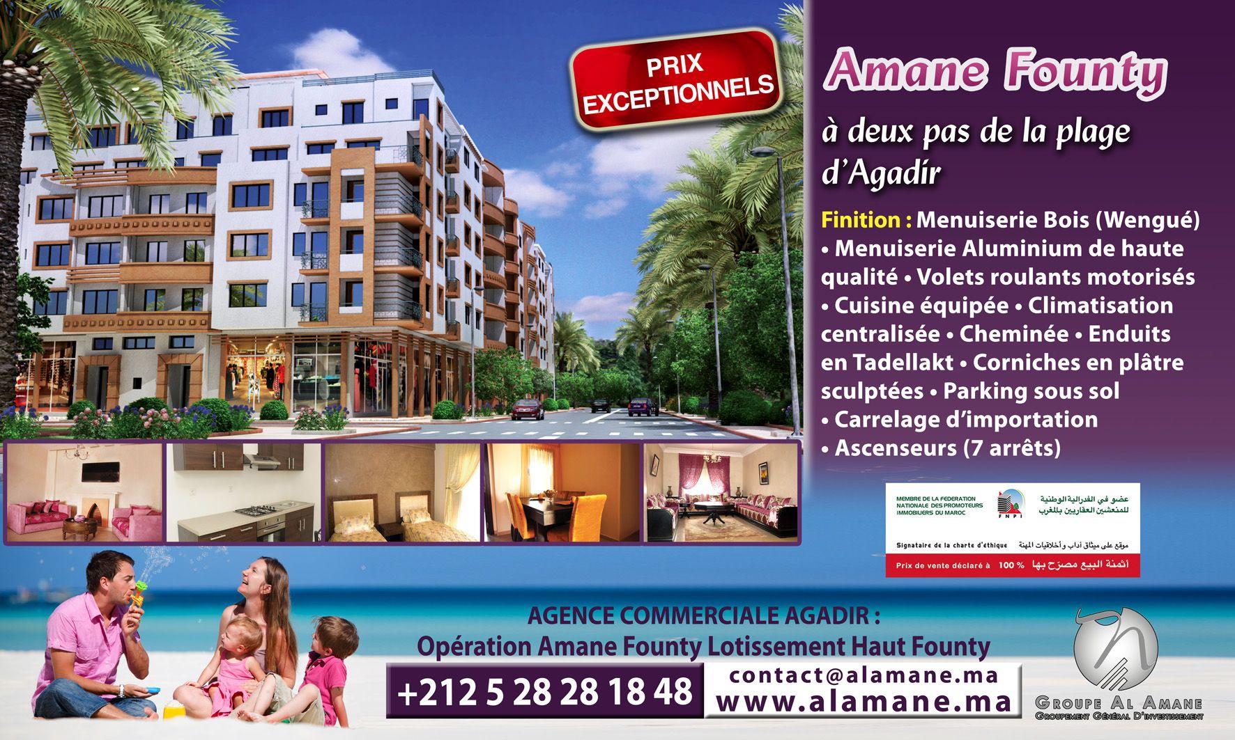 Résidence Al Amane Founty Haut Standing #Appartements (2 ou ...