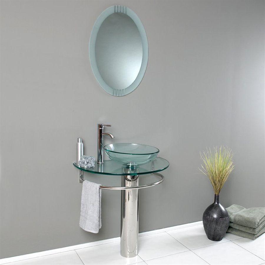 Fresca Vetro Stainless Steel Vessel Single Sink Bathroom Vanity - 30 x 18 bathroom vanity for bathroom decor ideas