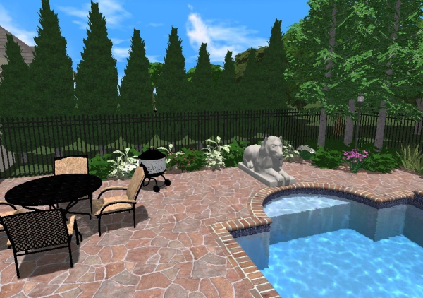 pool landscaping with natural screening above ground pool privacy