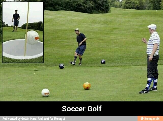 TOTALLY HAVE TO TRY⚽⛳ SOCCER GOLF