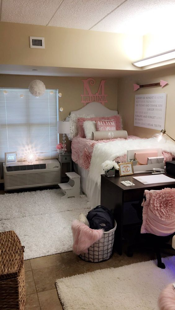 glam dorm rooms that you need to copy dorm room designs on cute bedroom decor ideas for teen romantic bedroom decorating with light and color id=72846