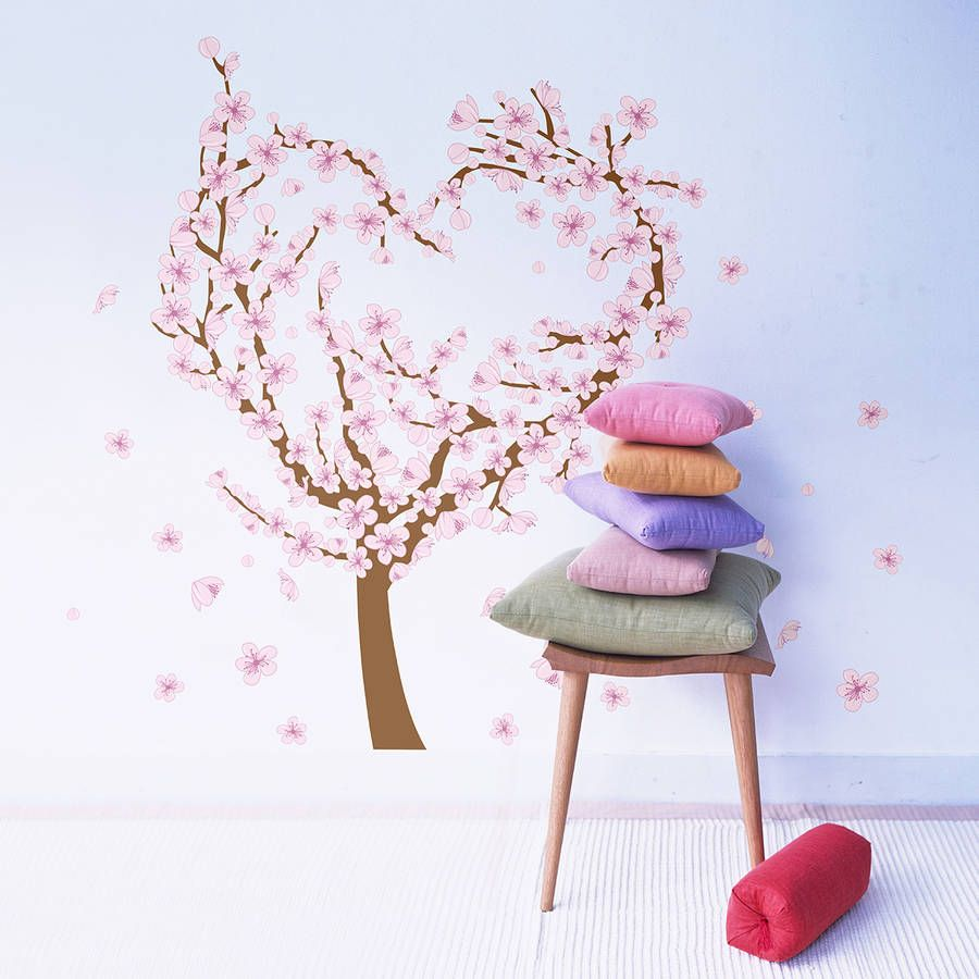 Love heart blossom tree wall sticker blossom trees wall sticker are you interested in our love heart wall stickers with our blossom tree wall stickers amipublicfo Image collections