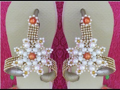 Como Cortar e Costurar tira de chinelo Customizado de Flor de Pérolas -  Maguida Silva - 237051c45a