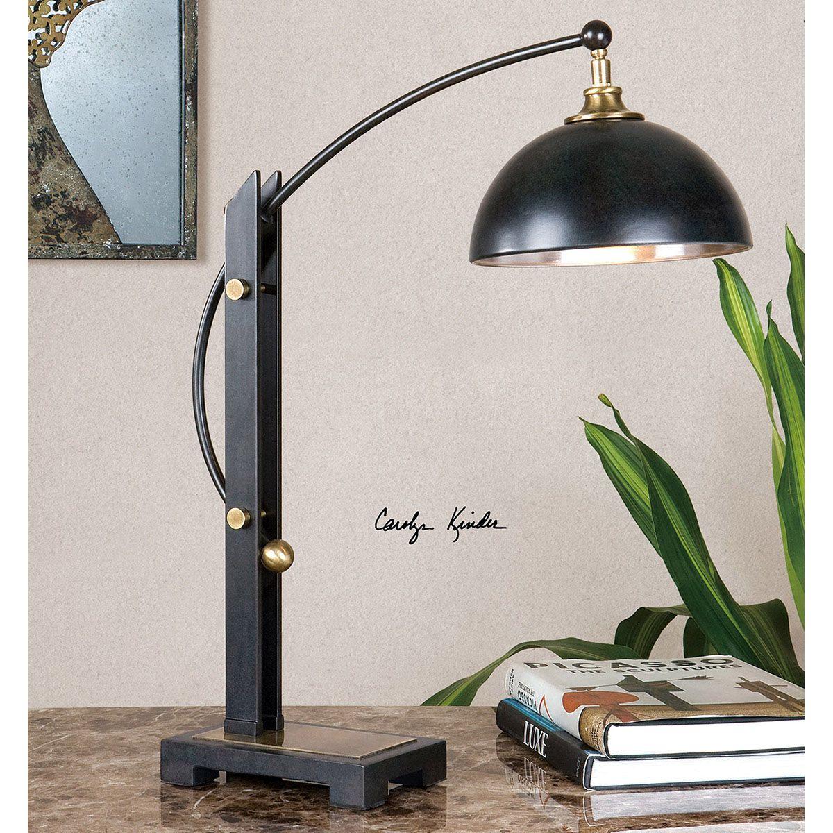 Uttermost Malcolm Dark Oil Rubbed Bronze Desk Lamp 29587-1