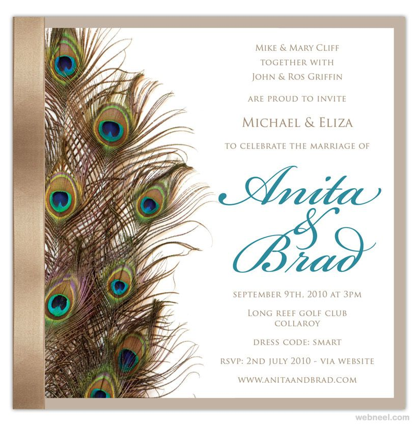 35 Creative And Unusual Wedding Invitation Card Design Ideas With