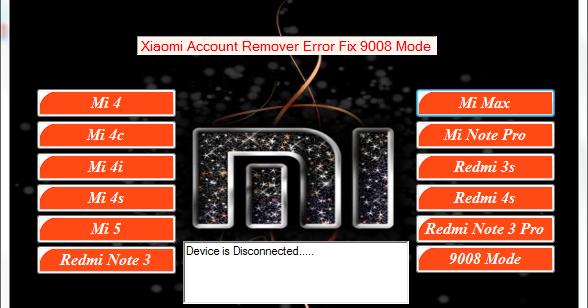 DownloadMI Account Unlock Error Fix Tool Feature: Xiaomi Mi 4 Xiaomi