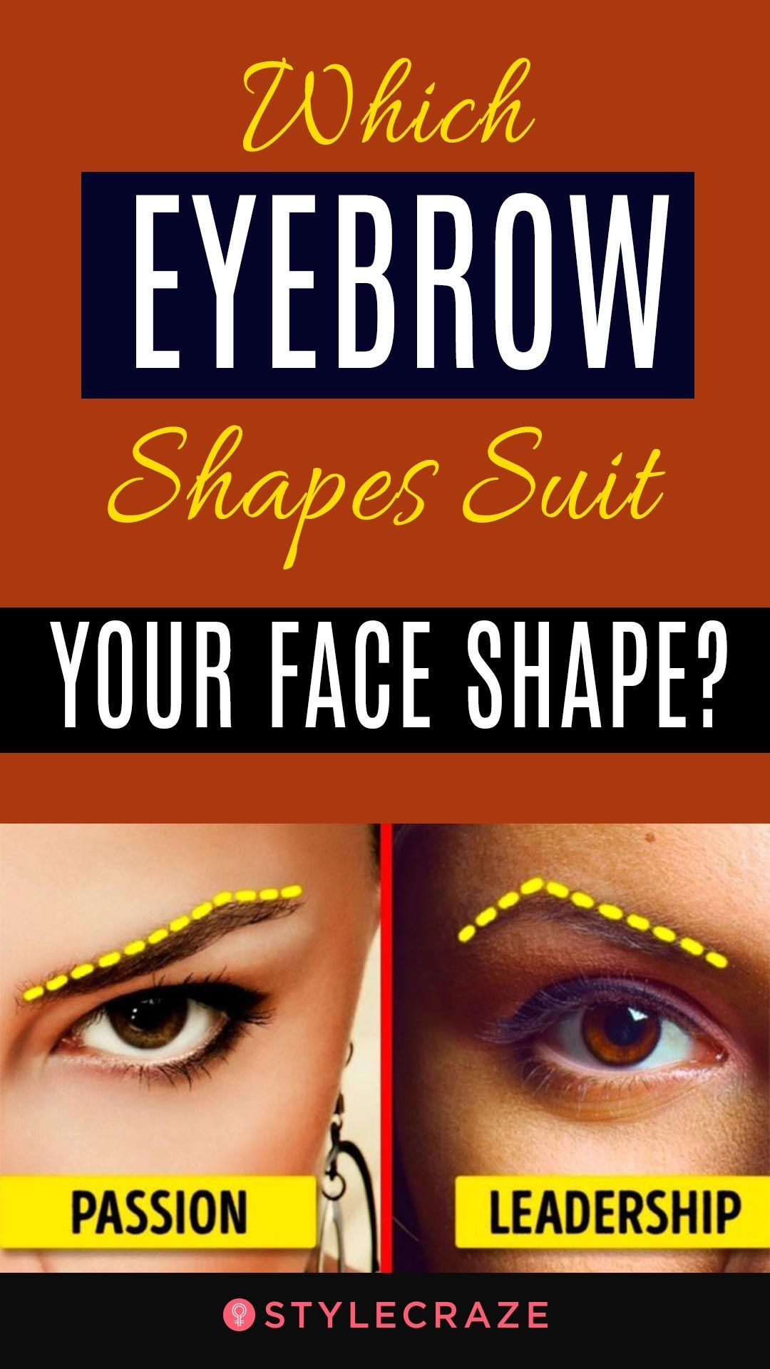 Which Eyebrow Shapes Suit Your Face Shape?   Perfect ...