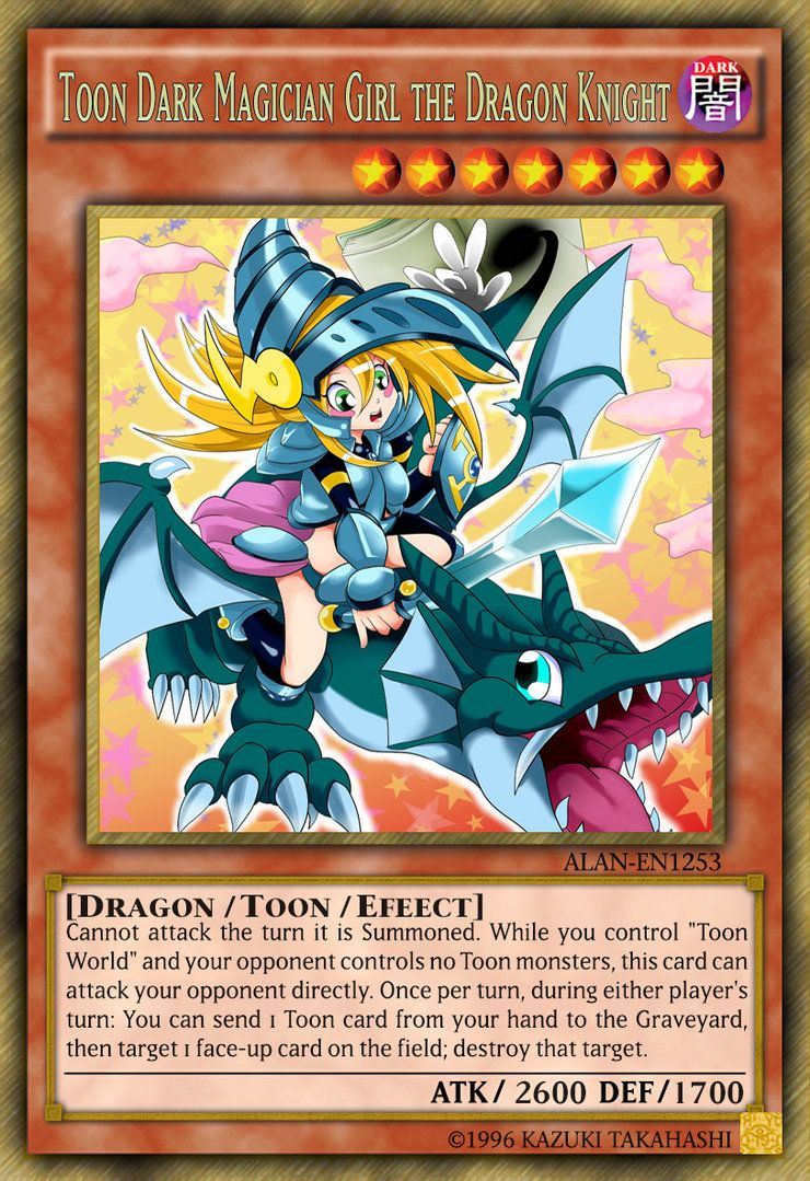 Toon Dark Magician Girl The Dragon Knight By Alanmac95 On Deviantart
