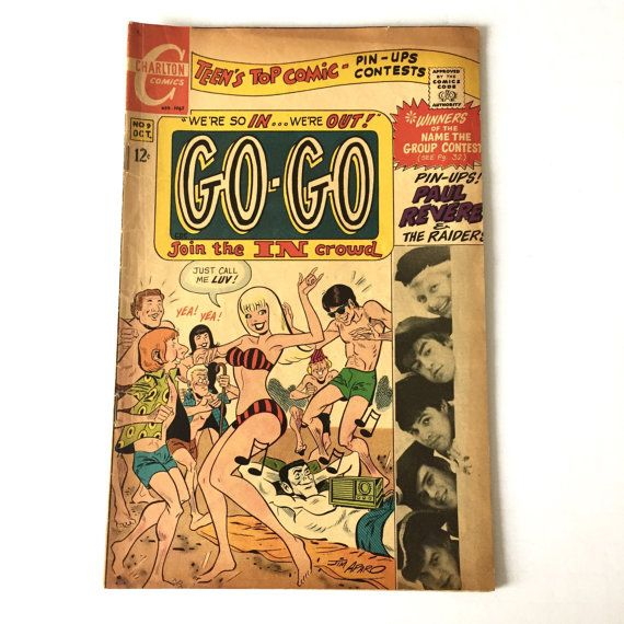 1967 GO GO Teen Comic Book Paul Revere and the raiders featured. available form Seller :wordsworthbookstore, on Etsy.com ~~~ (December 24th 2016)