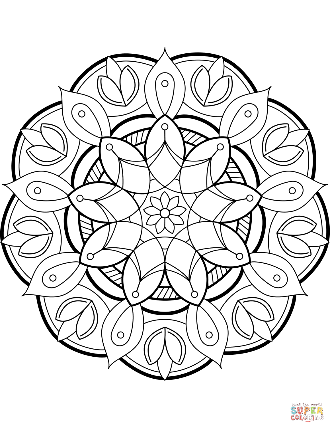 Flower Mandala Coloring Page Free Printable Coloring Pages Flower Mandala Coloring Page Free Mandala Coloring Pages Flower Mandala Flower Coloring Pages
