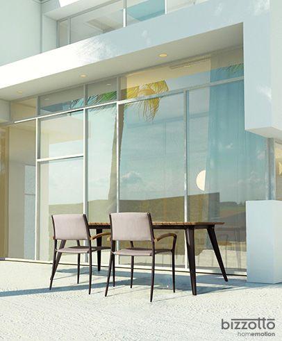 tavolo sedia catalina in alluminio e teak