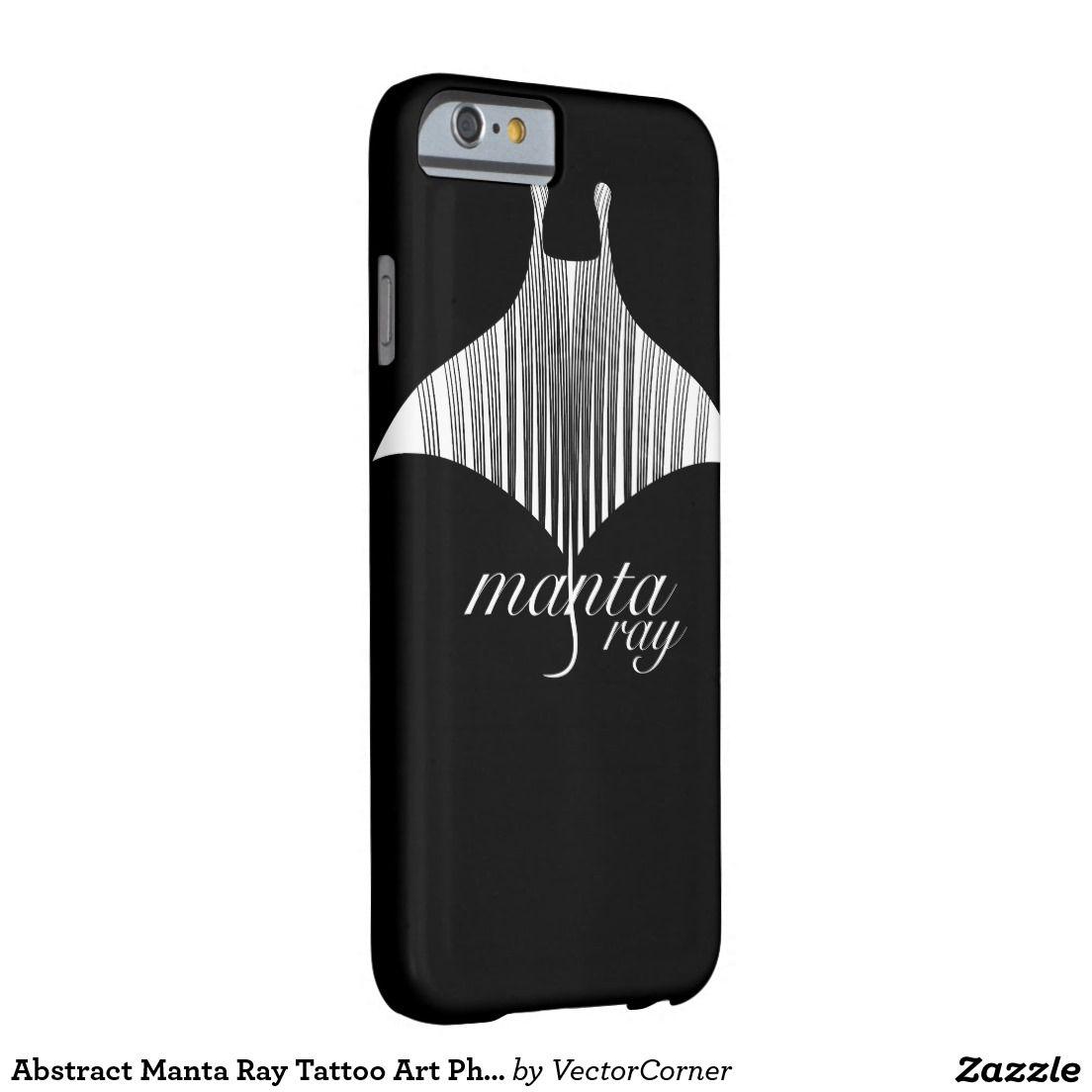 Abstract Manta Ray Tattoo Art Phone Case
