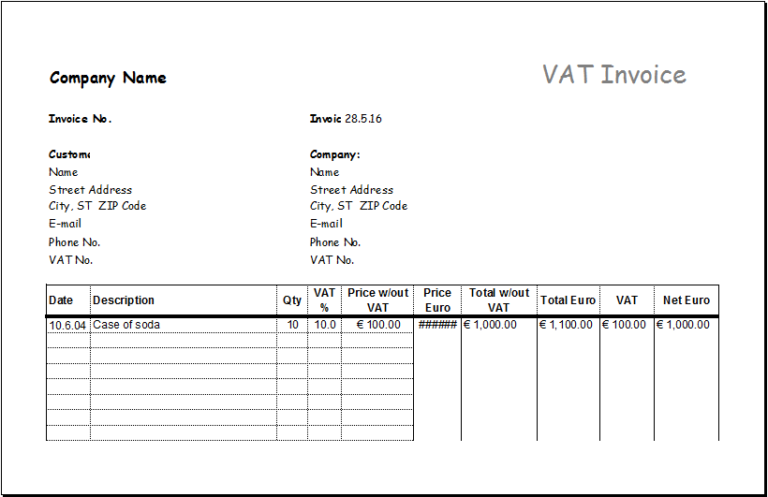 Ms Excel Consignment Invoice Template Excel Invoice Templates Invoice Template Invoice Sample Invoice Format In Excel