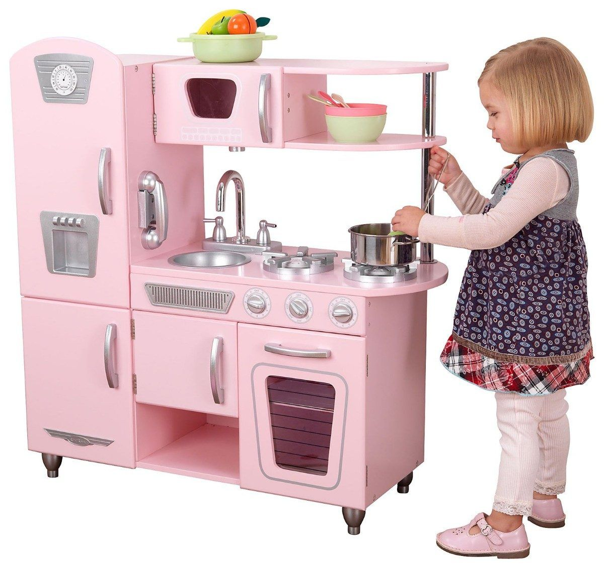 Kid Craft Retro Kitchen Cocinita Kidkraft Juguete Cocina Para Nia As Rosa Ideas Para