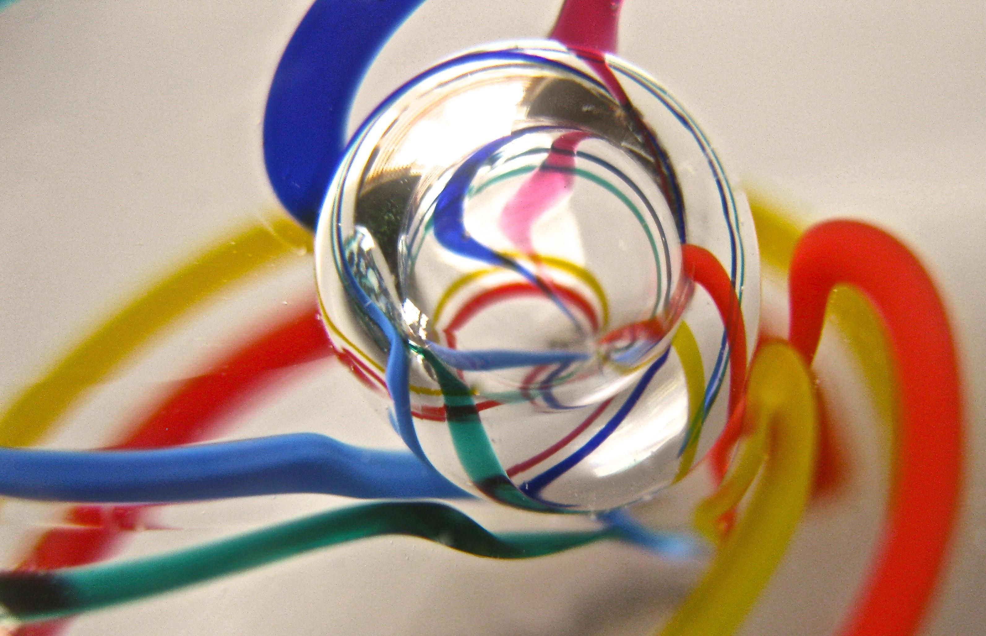 When spinning round and round in a miniature glass world be careful where you step off.