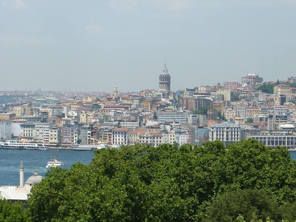 View of the Galata Tower in Istanbul, Turkey