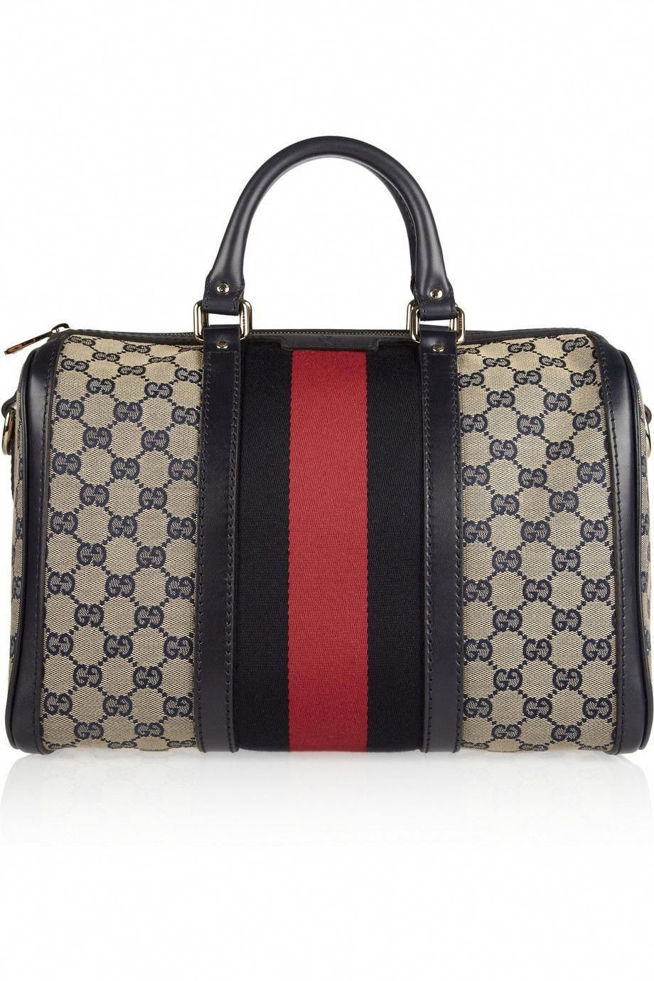 55e3f2a93807d9 Gucci vintage Web monogram canvas duffel bag. I want. #Guccihandbags ...