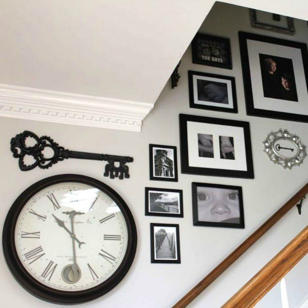 14 insanely creative ways to fill your empty stairway ... on Creative Staircase Wall Decorating Ideas  id=58425