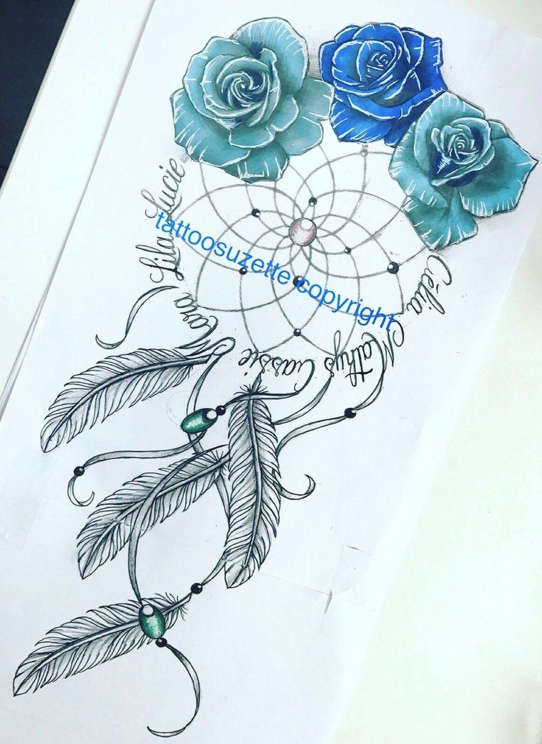 Photo of dreamcatcher tattoo design by tattoosuzette on DeviantArt