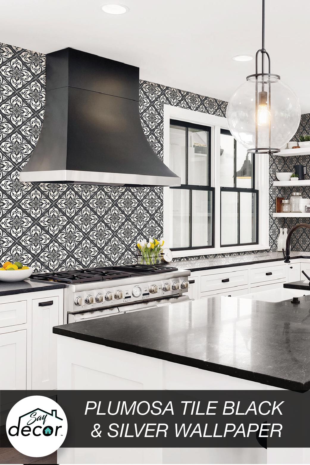 Plumosa Tile Wallpaper Luxe Retreat Lillian August   Diy kitchen ...