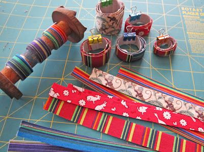 How to Make Fabric Tape by Kate Richbourg #fabrictape