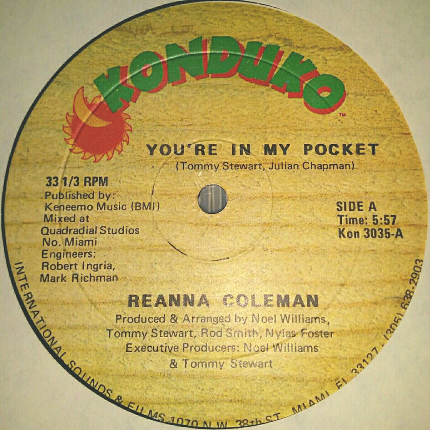 Vinyl Records Northern Soul Reanna Coleman You 39 Re In My Pocket Records Sale Rare Records Vintage Vinyl Vinyl Records Rare Records Northern Soul