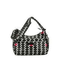 Jujube Black Onyx Collection Black Widow HoboBe. Use it as a diaper bag, carry baby gear while traveling, or simply a mom purse! Modern and chic with black, white and red trim. #jujube