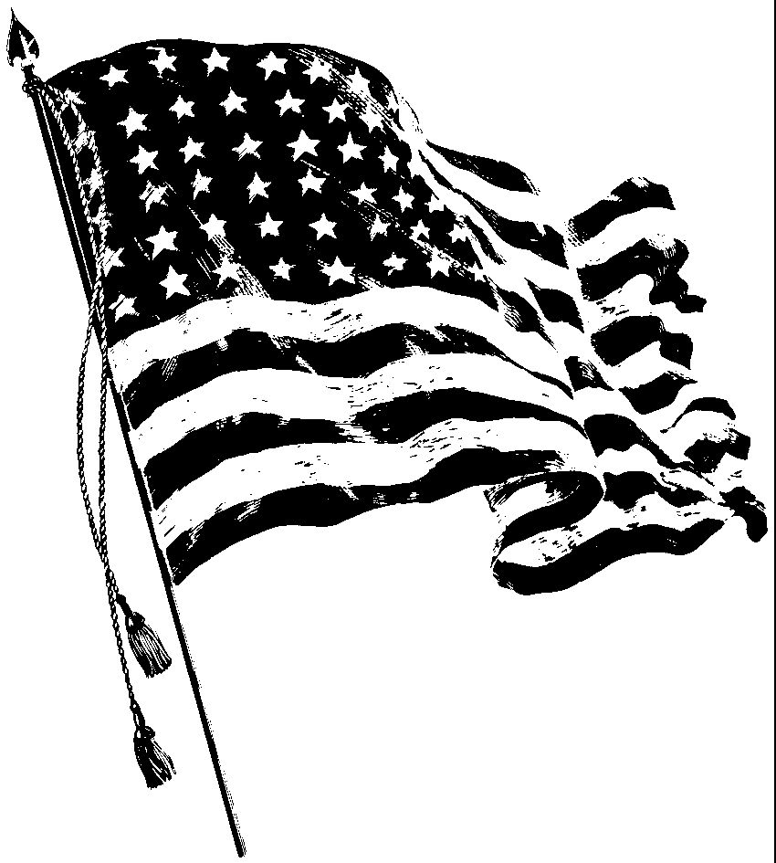 American Flag Clipart Black And White Images In 2021 American Flag Drawing Clipart Black And White Black N White Images