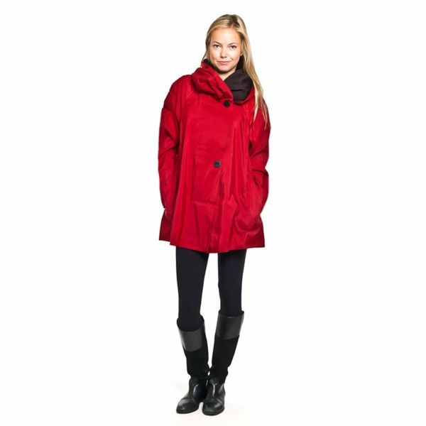 regenmantel damen mit kapuze damen mode Regenmantel für Damen