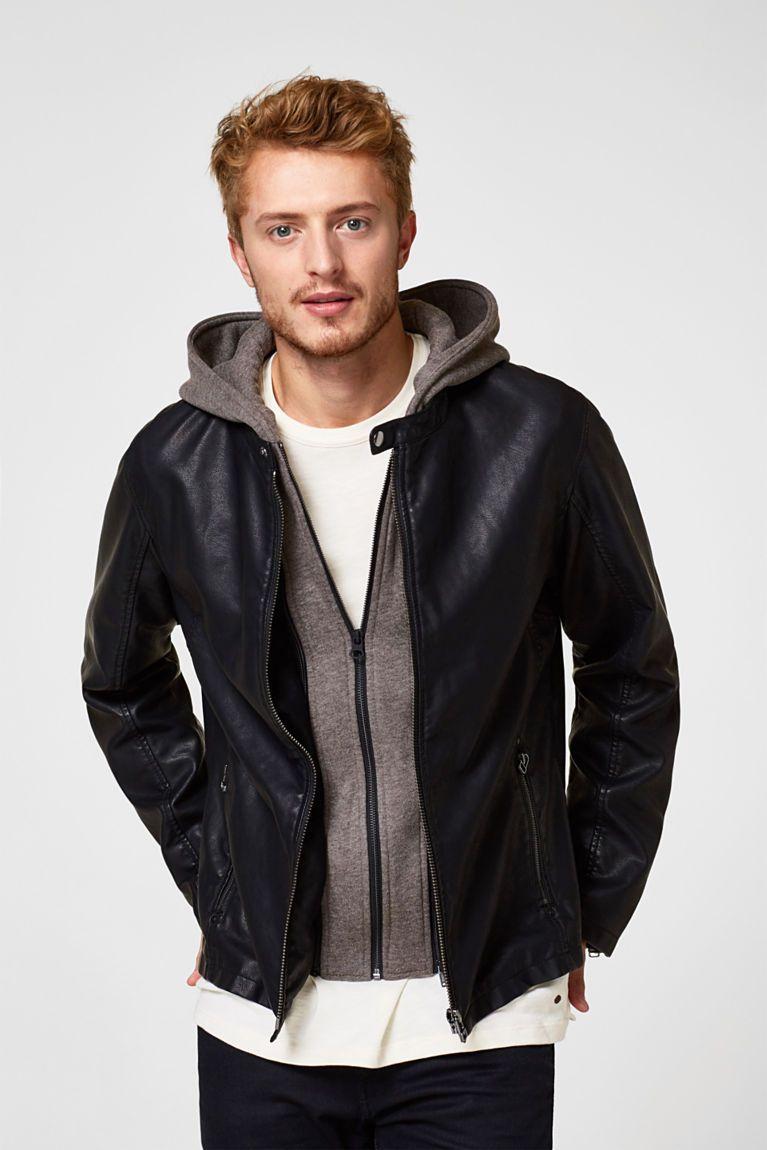 Esprit 2 In 1 Faux Leather Biker Jacket Jackets Men Fashion Mens Outfits Mens Fashion Trends [ 1150 x 767 Pixel ]