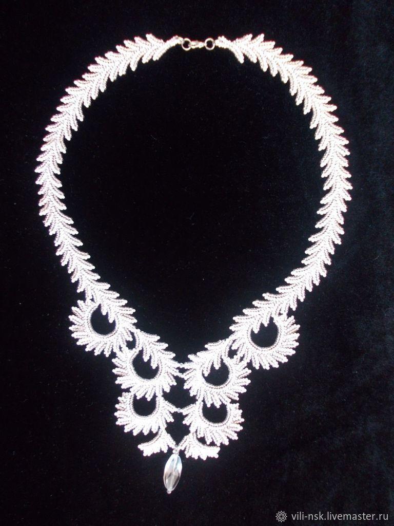 """Ожерелье """"Январь. Узоры на стекле""""   Образцы украшений из ..."""