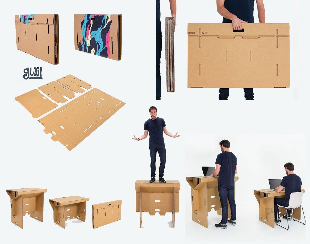 Un equipo de dise adores de nueva zelanda fraser callaway - Mesas de carton ...