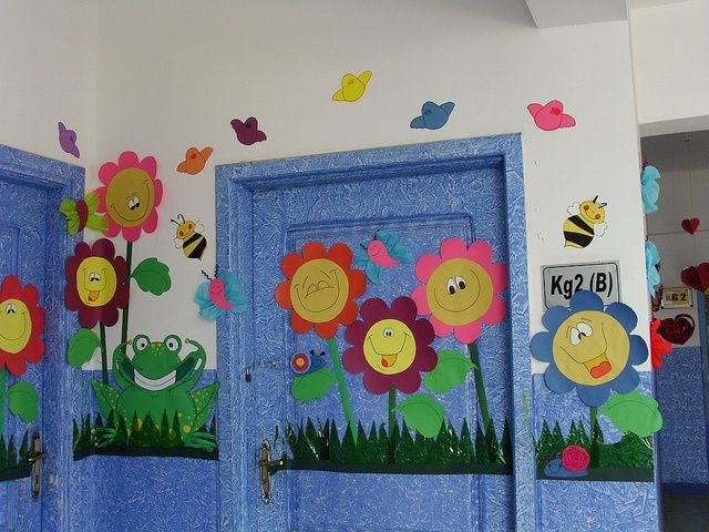 Kids spring crafts so cute spring crafts for kids for Porte decorate scuola