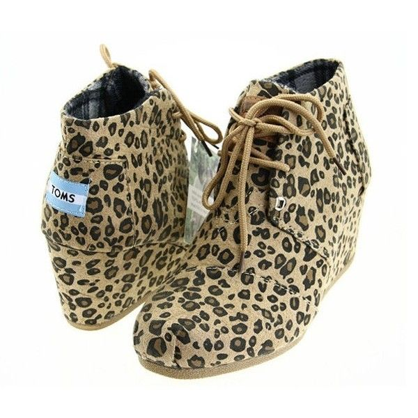 da02aa7e377 Cheetah Boots for Women | Toms Women's Desert Wedges Suede Cheetah ...