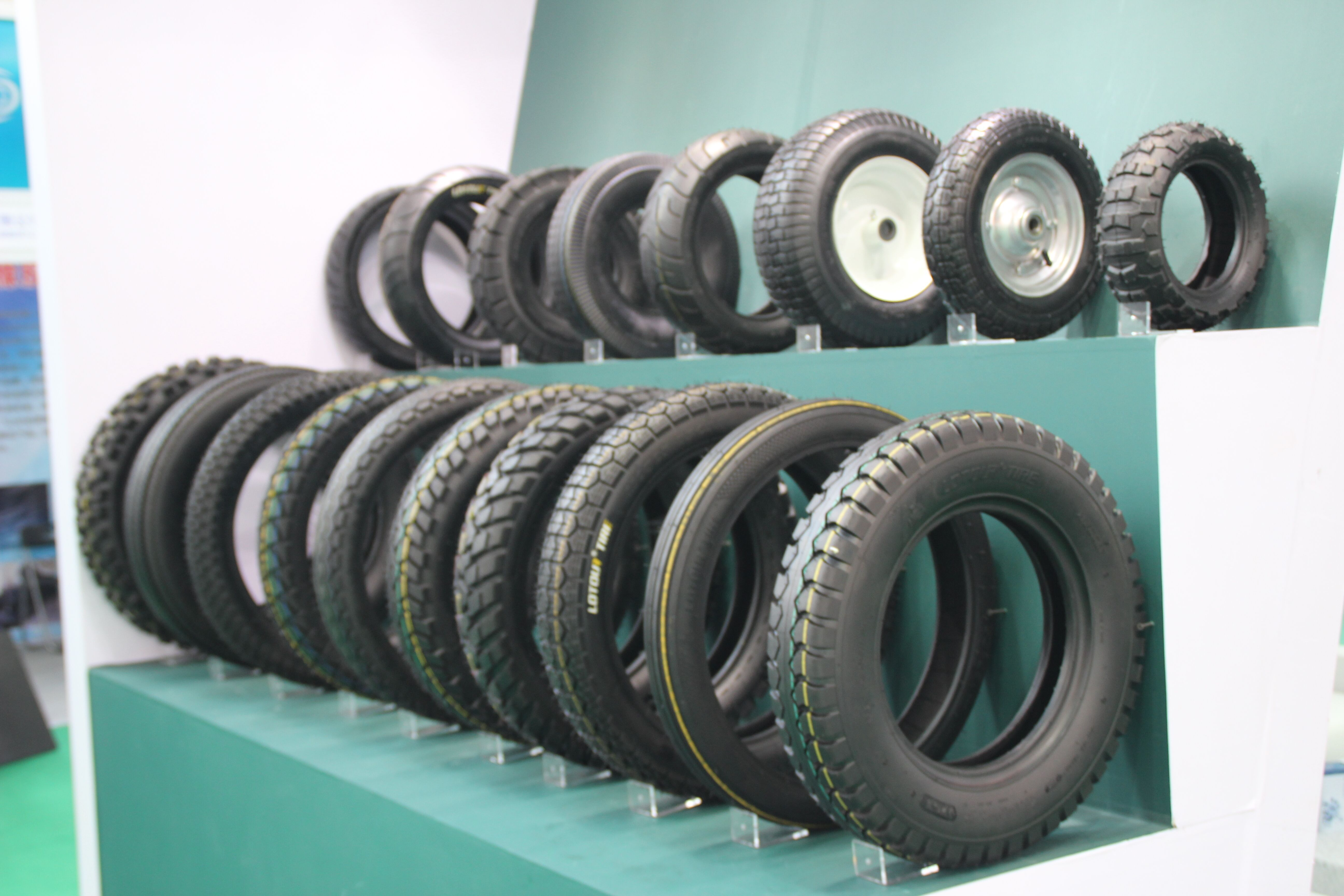 We Are In Tyre Expo Lotour Motorcycle Tire Is Showed The Best Material Is Used And The All Kinds Of Sizes Are Available For M Motorcycle Tires Tire Motorcycle