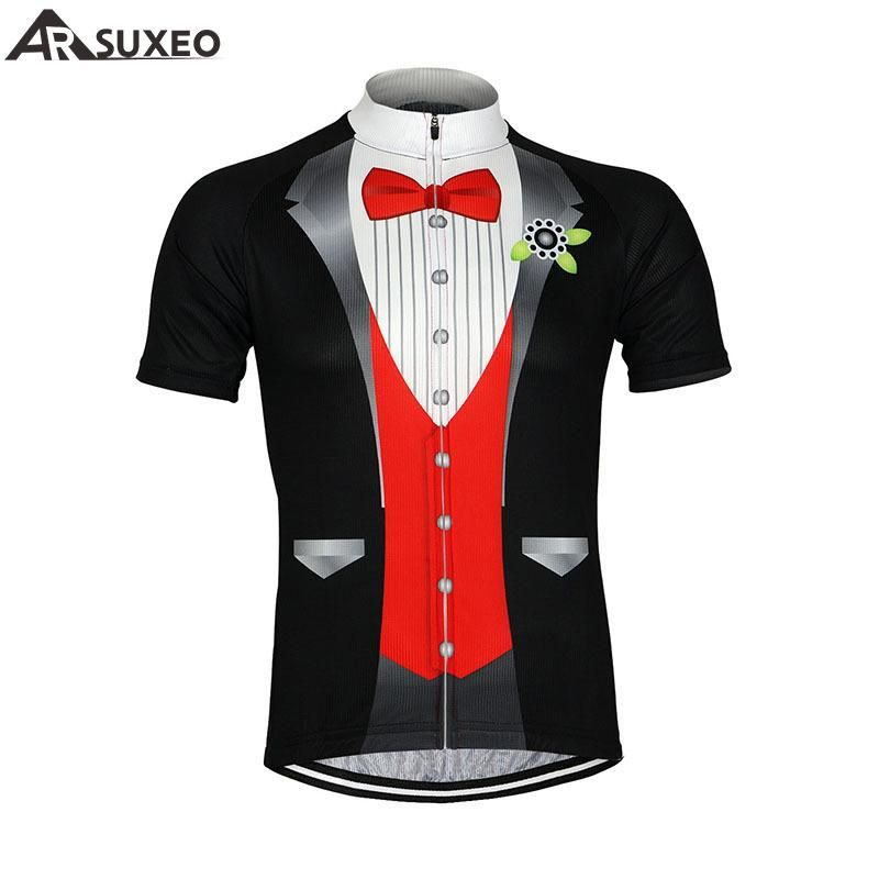 526f18fc967 ARSUXEO 2016 Sports de Plein Air Hommes V eacute lo Jersey V eacute lo  Manches Courtes Jersey Mountaion V ecirc