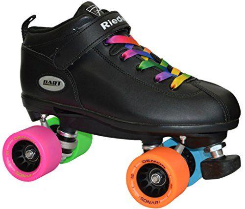 Riedell 111 Fame Men Size 4-13 Indoor Rink Roller Skates Black Boot Black Wheels