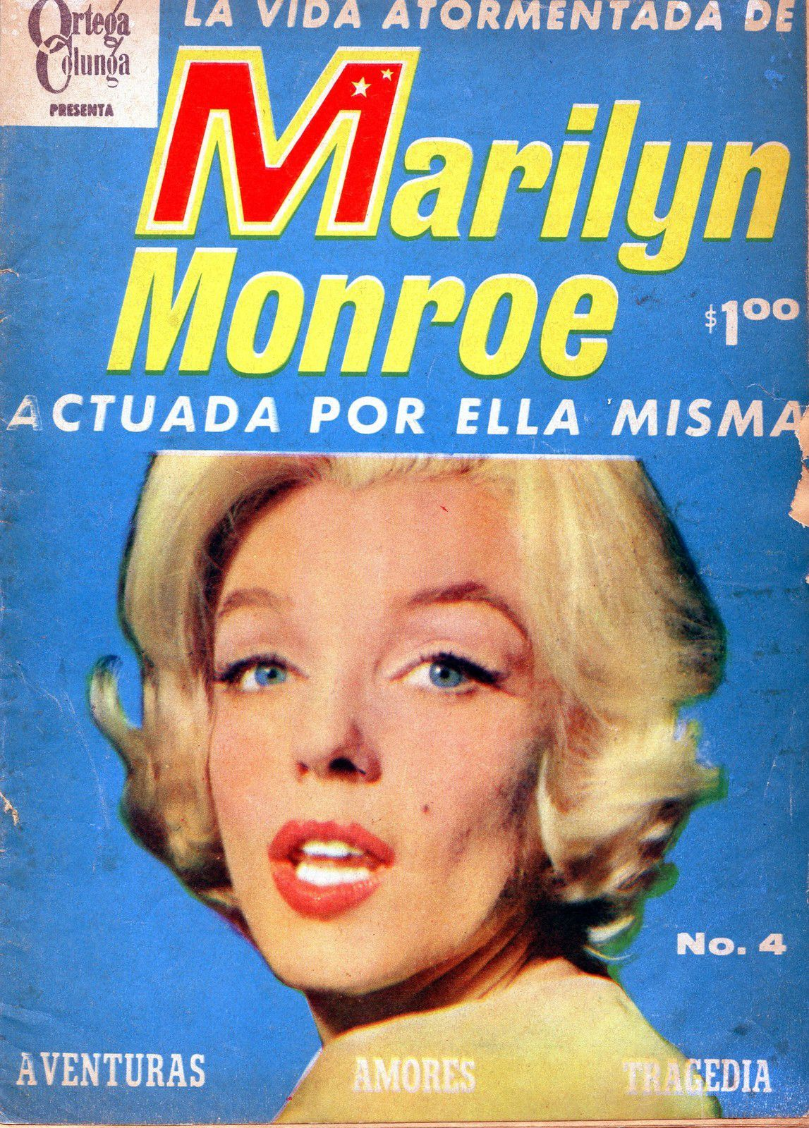 Marilyn on the cover of a Mexican magazine, 1962.