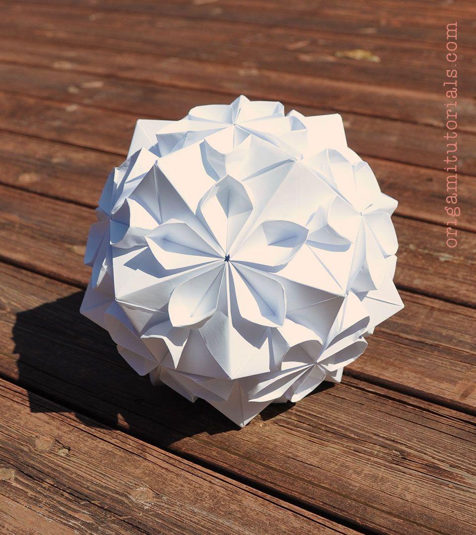 Cherry Blossom Ball Kusudama By Tomoko Fuse Origami Tutorial