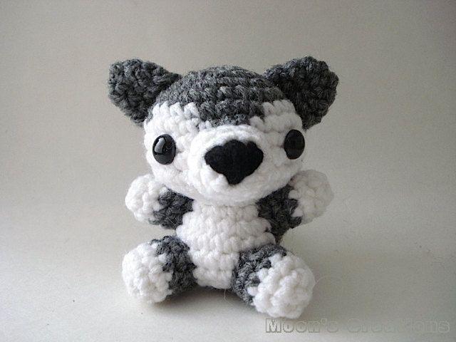 Gray Wolf Pup Amigurumi Doll. $30,00, via Etsy.