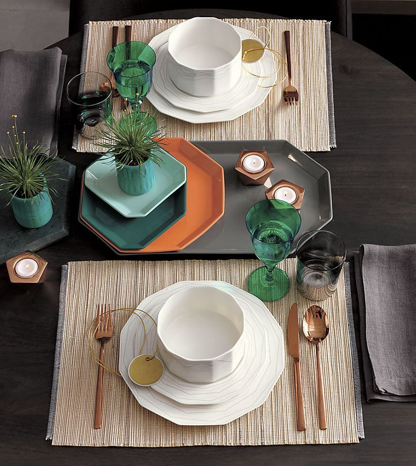 geo modern dinnerware from cb2 - Modern Dinnerware