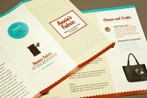 Fabric Shop Brochure Template - A fabric or craft store can utilize ...
