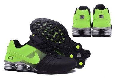 7f1333e9342b50 Nike Shox Deliver Men Shoes Fade Black Flu Green Casual Trainers Sneakers  317547