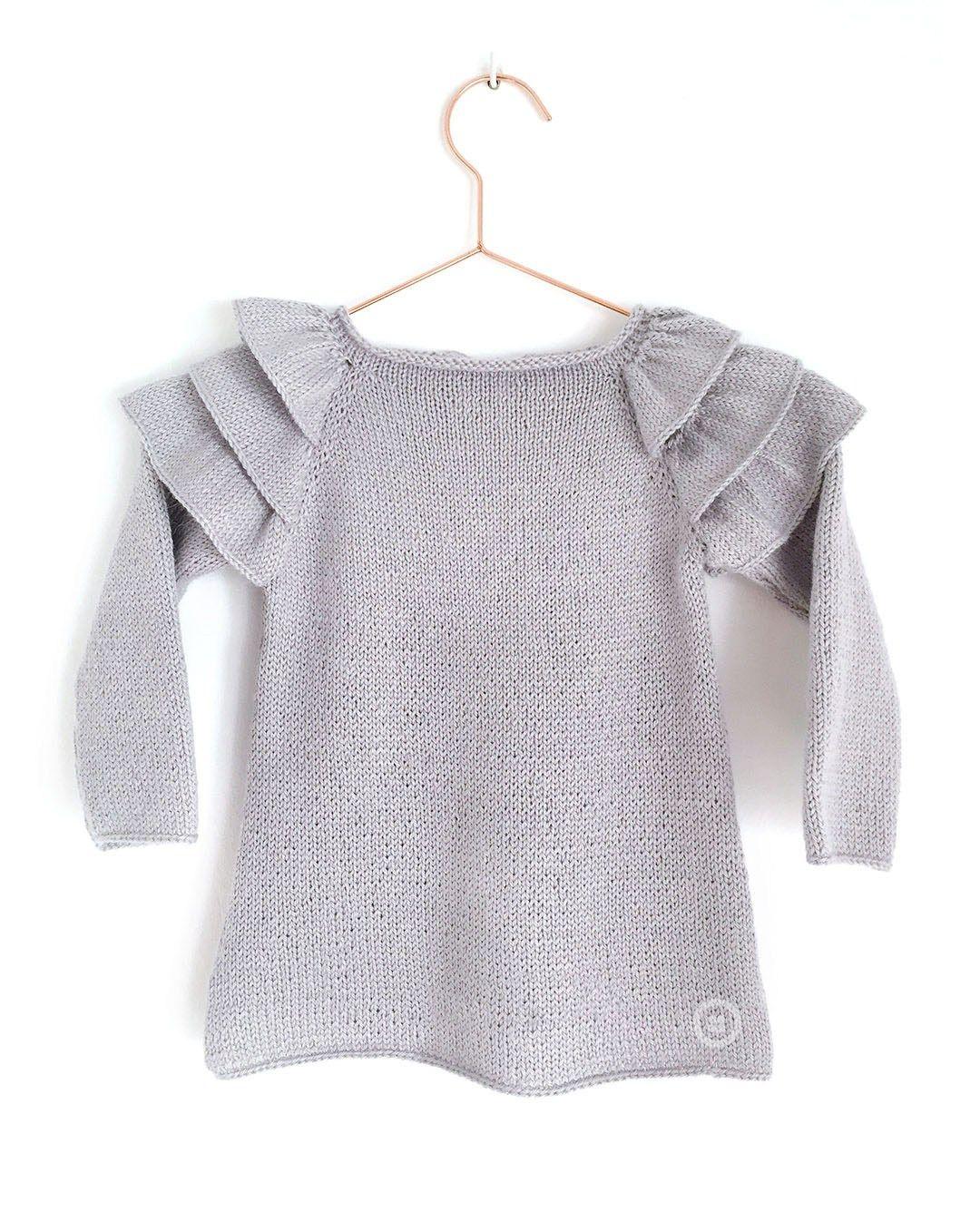 Jersey de Punto con VOLANTES para Bebé [ Tutorial y Patrón GRATIS ...