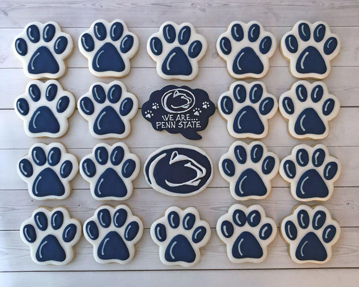 Penn State Nittany Lions paw print set Graduation