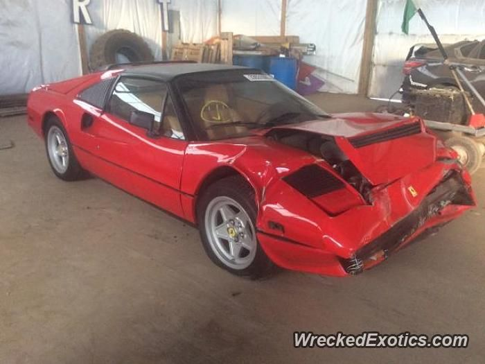 Ferrari 308 Gts Crashed In Denver Car Car Fix Auto Repair