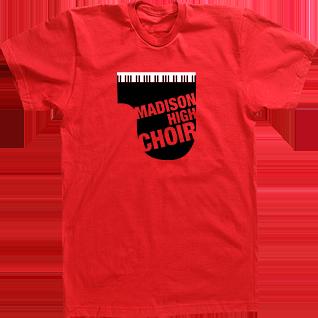 Madison high choirchoir t-shirt designs and custom choir tshirts ...